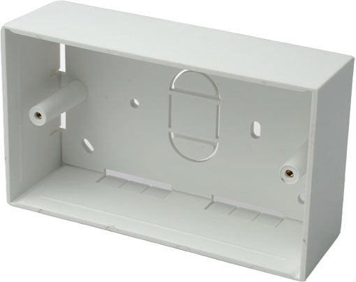 Double gang back box surface mount 146 x 86 x 46mm deep