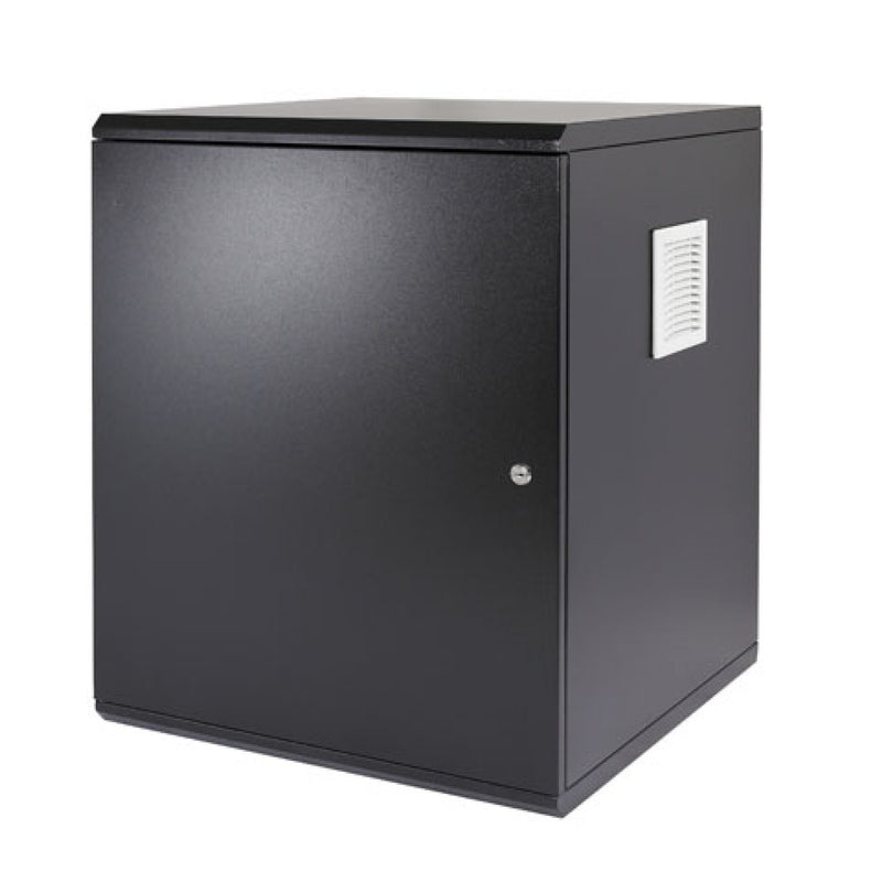 Orion 12u 600mm Wide x 600mm Deep Acoustic Wall Cabinet - Black