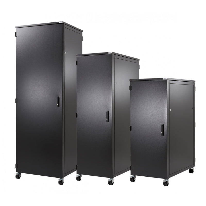 Orion 15u Acoustic Soundproofing Server Rack 800xmm Wide 1000mm Deep - Black