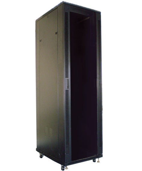 ECO NetCab 20u 600mm Wide x 600mm Deep Floor Standing Rack Mount Data Comms Rack Network Cabinet - Black