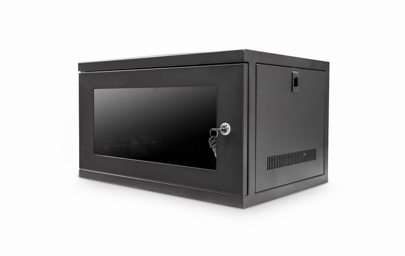 Wall Mount Cabinet 6u 550mm Wide x 450mm Deep Comms Cabinet - Black