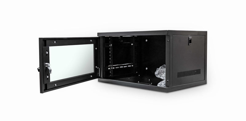 LMS Data Wall Mount Cabinet 6u 550mm Wide x 400mm Deep Comms Cabinet - Black