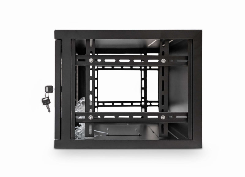 LMS Data Wall Mount Cabinet 6u 550mm Wide x 300mm Deep Comms Cabinet - Black