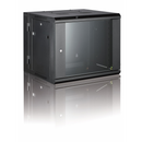 All-Rack Wall Mount Comms Rack 6U 600mm Wide x 550mm Deep 2 Part/Hinged Wall Mount Cabinet - Black