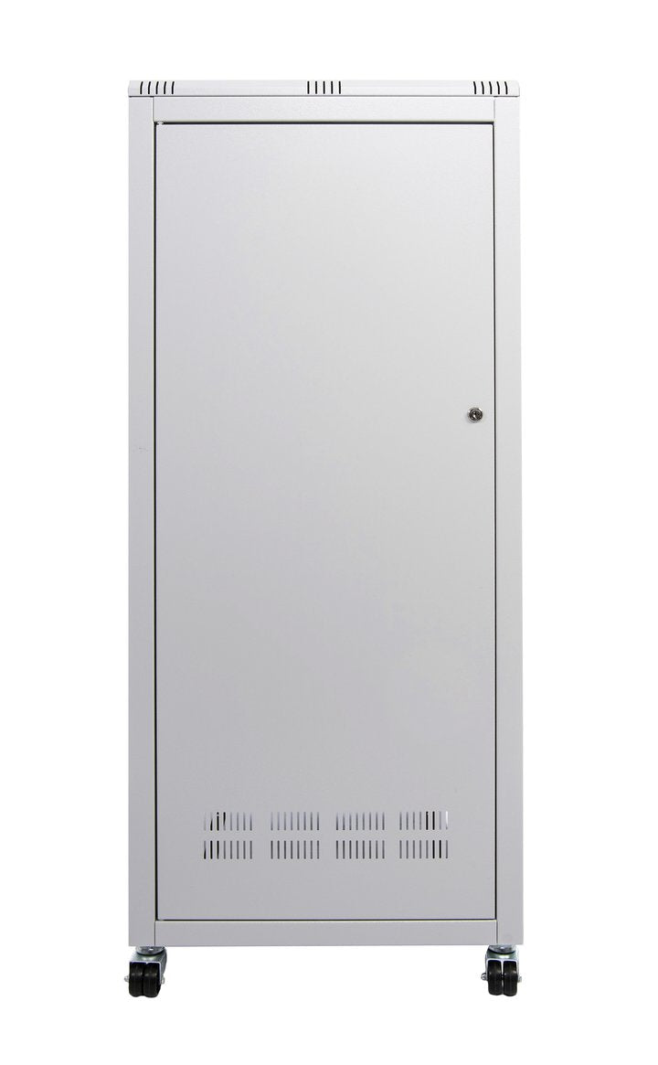 ORION 27U FREE STANDING DATA CABINET 800MM WIDE X 800MM DEEP - GREY