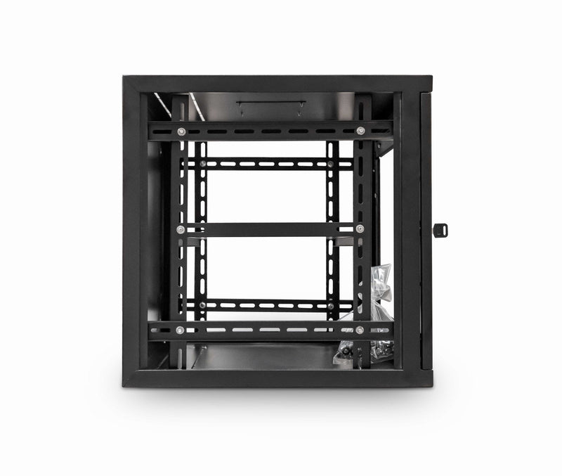 LMS Data Wall Mount Cabinet 9u 550mm  Wide x 550mm Deep Comms Cabinet With Shelf - Black