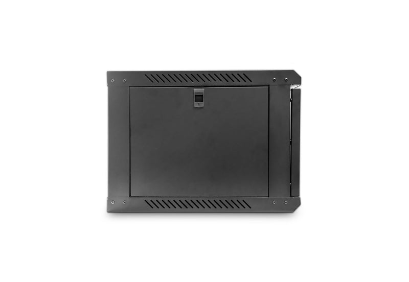 LMS Data Wall Mount Cabinet 12U 550mm Wide x 500mm Deep Comms Cabinet - Black