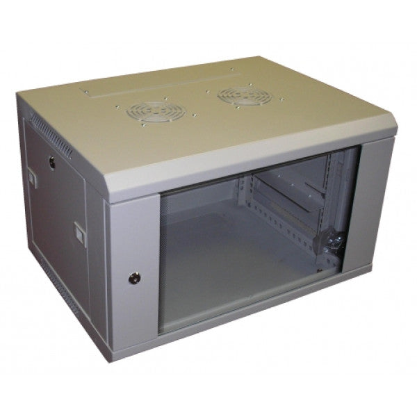 All-Rack Wall Mount Comms Cabinet 12u 600mm Wide X 450mm Deep, Data Rack, Network Cabinet - Grey