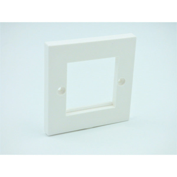 Flat Single Gang Square Faceplate With 2 Slots