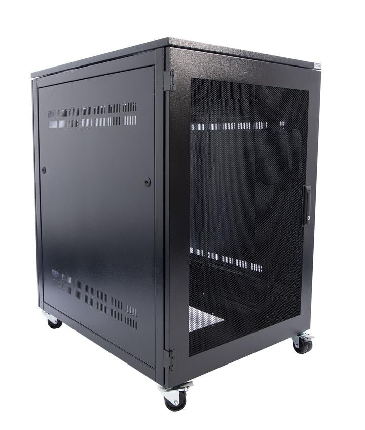 Orion 15u Floor Standing Premium Server Rack 800mm Wide X 1000mm Deep  - Black