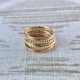 Mixed Metals/Mixed textured Stacking Rings