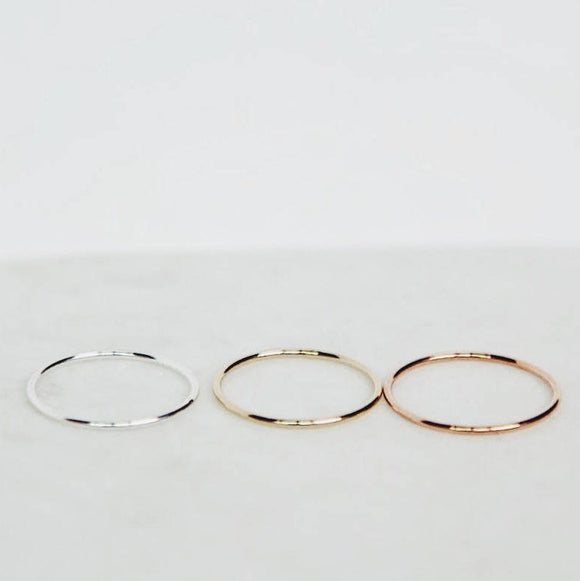 Gold Filled/Sterling Silver/Rose Gold Filled Band Ring