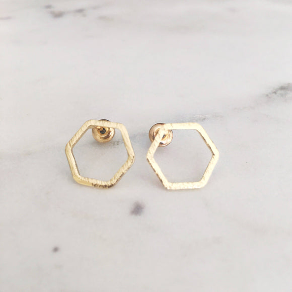 Open hexagons Earrings