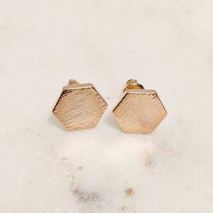 Closed Hexagons Earrings