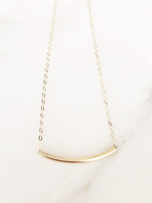 Trendy Tube Necklace/ Great for Layering