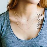 "Skinny Vertical Bar Necklace // 1.5"" long //"