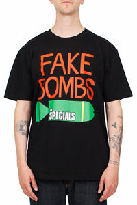 Black Specials T'shirt with Fake Bombs Print