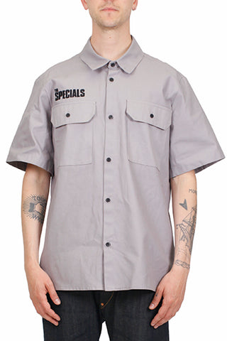 Grey Crew Shirt With The Specials Logo Embroidery
