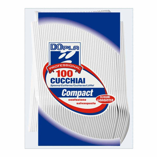 Dopla DOPLA CUILLERS COMPACT BLANCHES - 100PC DPL-3373-001