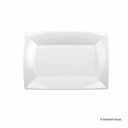Goldplast GOLDPLAST PLATS RECTANGULAIRES BLANCS - 12PC GLD-8051-11-001