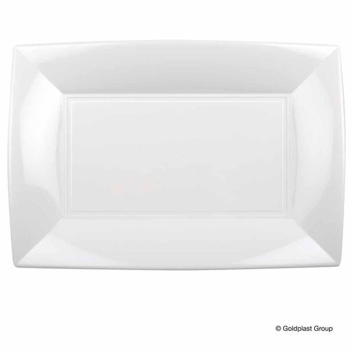 Goldplast GOLDPLAST PLATS RECTANGULAIRES BLANCS - 6PC GLD-8055-11-001