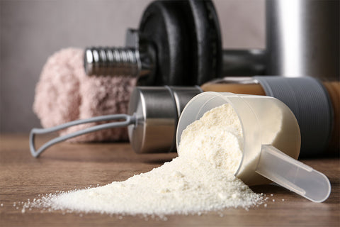 whey protein powder build muscle