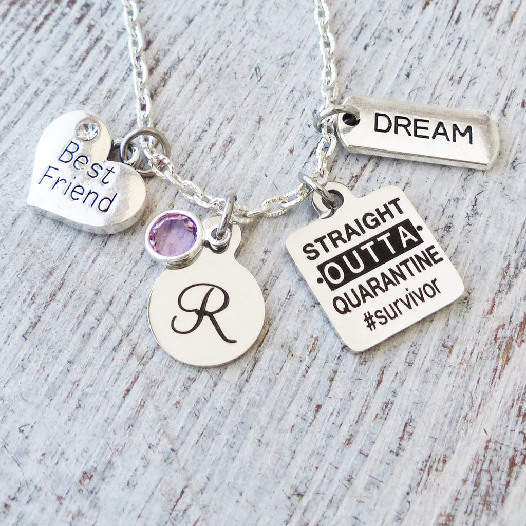Friends are the sunshine of Life Necklace Birthday Gift Live Laugh Love Personalized Necklace-Best Friend Jewelry Purple Gift for Friend
