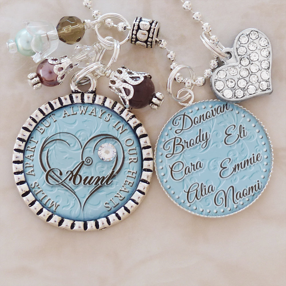 Aunt Of The Bride Gift From Niece To Aunt Wedding Gift From Niece Wedding Gift From Bride To Aunt Necklace Wedding Gift Initials Hearts