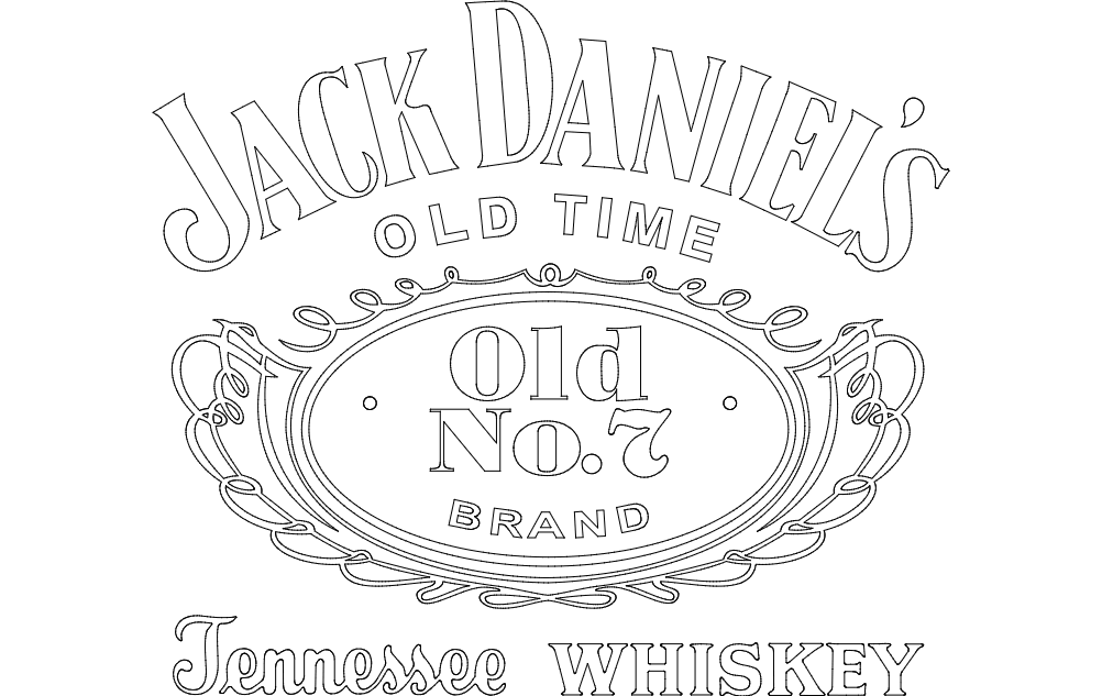 Jack Daniel's Tennessee Whiskey logo dxf File