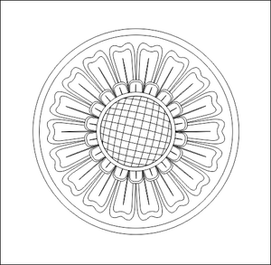 Circle Decoration DWG File