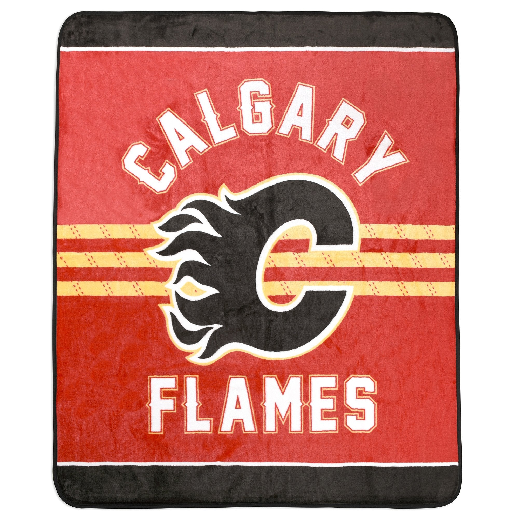 NHL Calgary Flames Velour High Pile Blanket