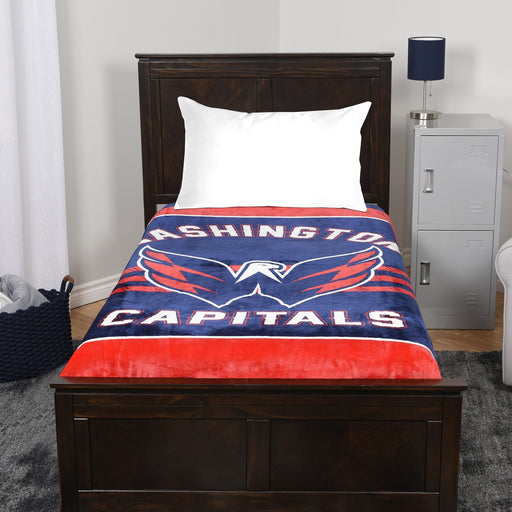 A blanket throw with the Washington Capitals logo