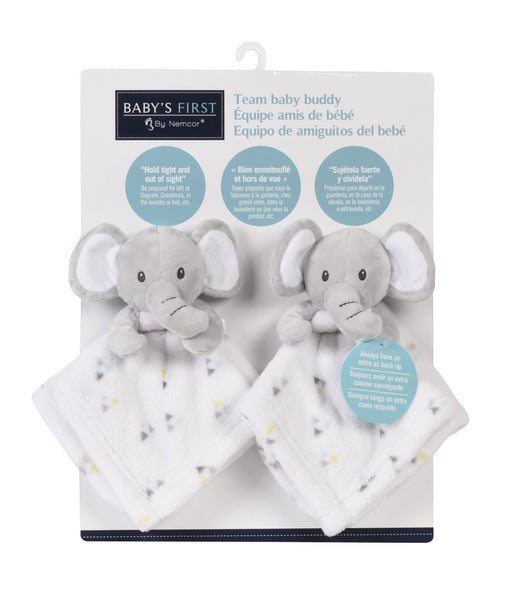 Yellow Babys First by Nemcor 2 Pack Plush Baby Blanket