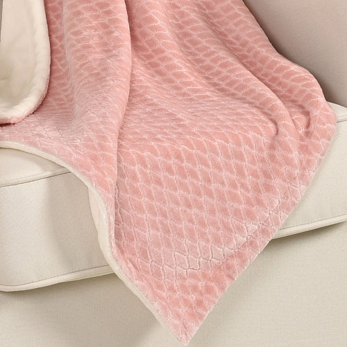 Baby's First Baby Blanket, Embossed Pink