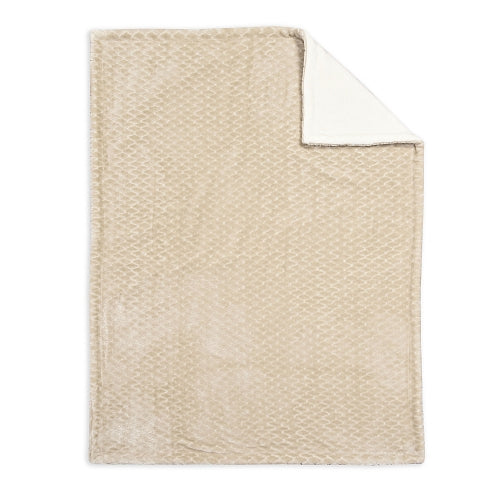 Baby's First Baby Blanket, Embossed Neutral
