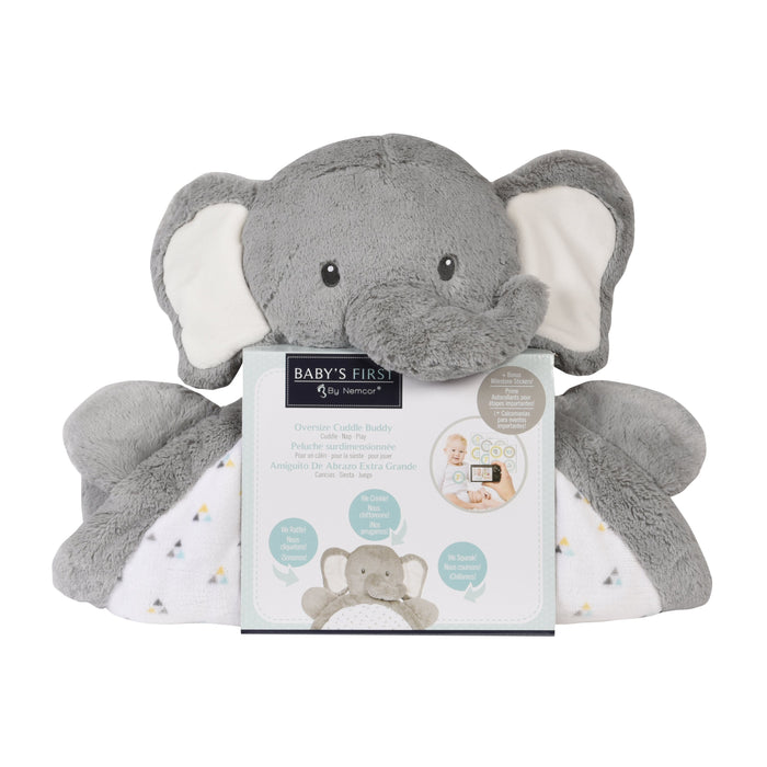 Baby's First Oversize Cuddle Buddy Elephant