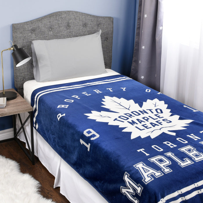 NHL Toronto Maple Leafs Velour High Pile Blanket