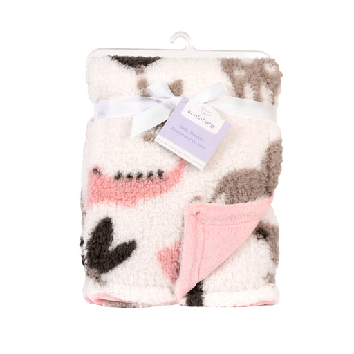 Baby's First Baby Blanket, Pink Printed Jungle Animal