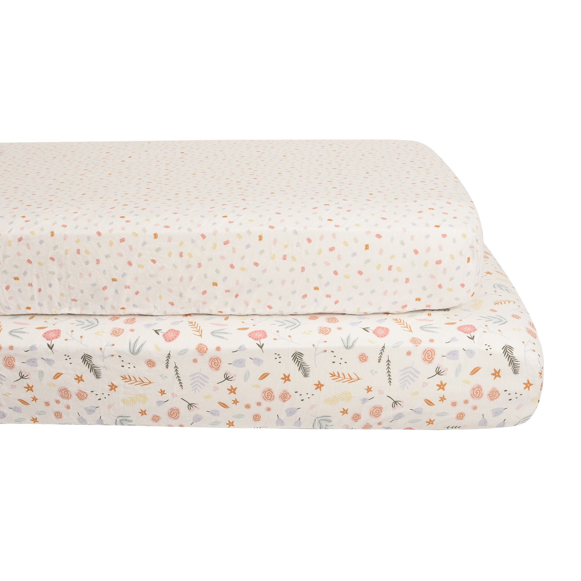 Baby's First by Nemcor 3-Piece Quilted Jersey Blanket and Fitted Sheet Crib Set, Floral
