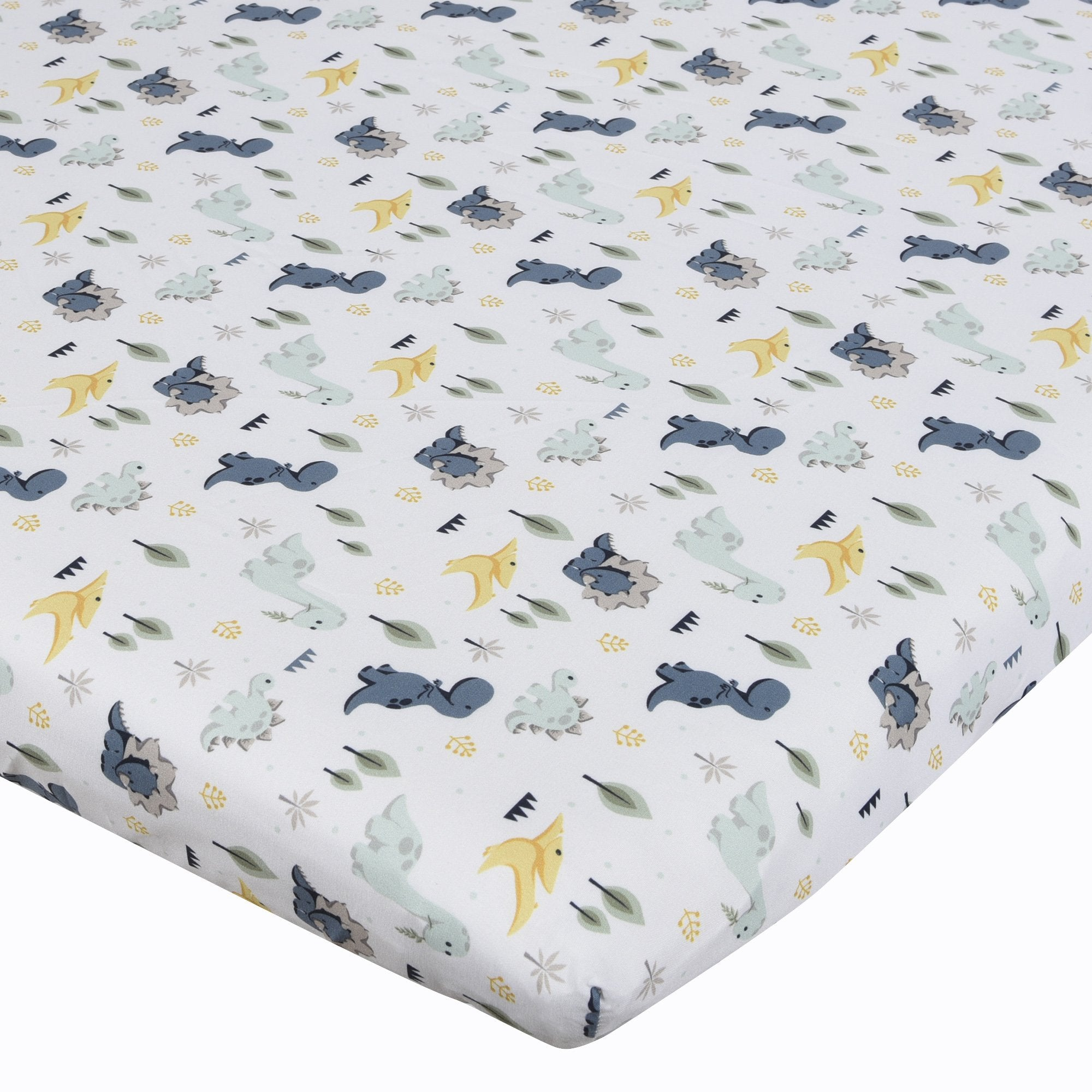 Baby's First by Nemcor 2-Pack Mini Crib Sheets, Dinosaurs