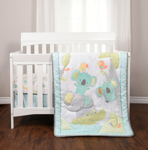 Baby's First 3-Piece Jungle Chatter Crib Bedding Set
