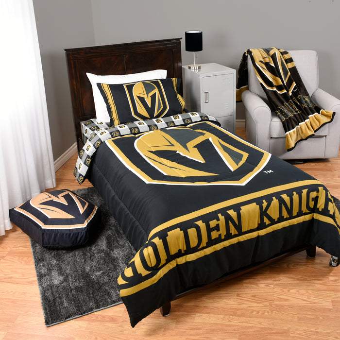 NHL Las Vegas Golden Knights 4-Piece Twin Bedding Set