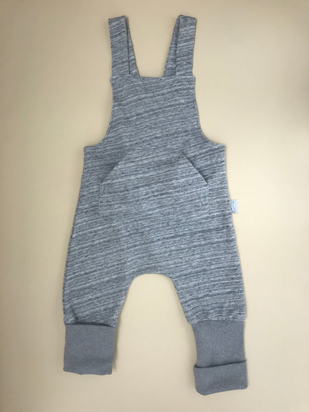BB grey romper with front pocket