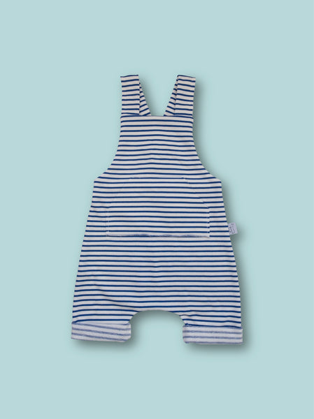 GP striped overalls with front pocket and adjustable length