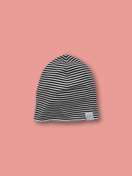Striped beanie hat