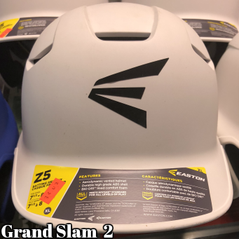 Easton Z5 Batting Helmet: White