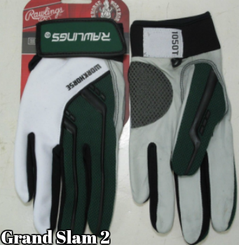 Green Rawlings Batting Gloves