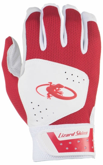 Red Lizard Skin Batting Gloves