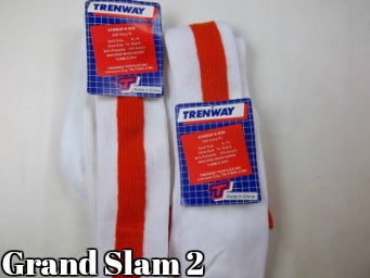 Red and White Trenway Stirrup Socks