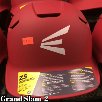 Easton Z5 Batting Helmet: Red